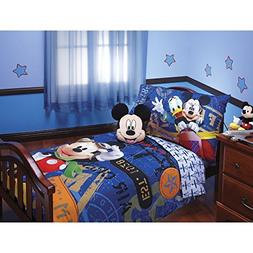 Mickey Mouse 4 Piece Toddler Bedding Set
