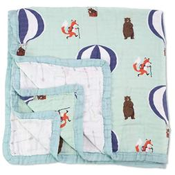 Baby & Toddler Blanket - Boy & Girl. Muslin Cotton Bamboo. L