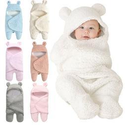Toddler Newborn Baby Infant Fleece Swaddle Wrap Blanket Slee