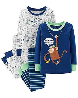Carter's Toddler Boys 4 Pc Pajama PJs Sleep Play Sleep Snug