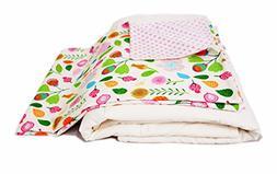 Cotton Flower Toddler Quilt ,Warmer,