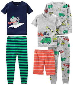Simple Joys by Carter's Boys' Toddler 6-Piece Snug Fit Cotto