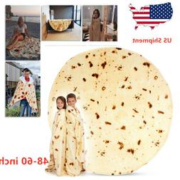 Tortilla Burrito Blanket Round Corn and Flour Towel Fleece P