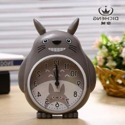 Totoro style Alarm Clock Desk Night Light Wake Up LED Kid Gi