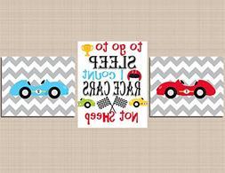 Transportation Décor,Race Cars Nursery Wall Art,Race Cars K