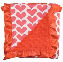 Unique Baby Trendy Blanket with Satin Ruffle Edges Heart Pri