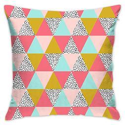 ZGSDYMMB Triangle Cheater Quilt Blush Pink Mustard Mint Kids