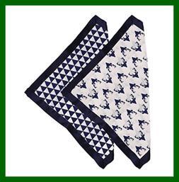 Tribal NAVY Buck/Triangles Muslin 2 PC Security Blankets W S
