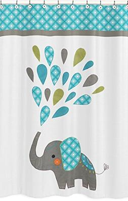 Sweet Jojo Designs Turquoise, White and Gray Mod Elephant Ki