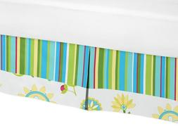 Sweet Jojo Designs Turquoise and Lime Layla Bed Skirt for To