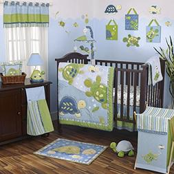 CoCaLo Turtle Reef 8 Piece Crib Bedding Set, Aqua/Green