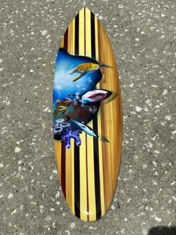 TURTLE WHALE-SURFBOARD AIR BRUSH DESIGN TROPICAL SIGN WALL A