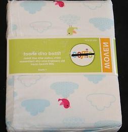 Circo Tweet Dreams Fitted Crib Sheet Toddler Bed Sheet blue