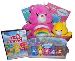 The Ultimate Care Bears Gift Basket with Plush Cheer Bear, F