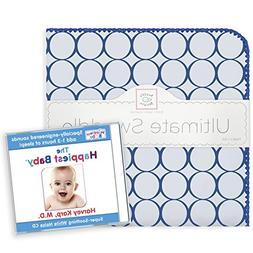 SwaddleDesigns Ultimate Swaddle Blanket with The Happiest Ba
