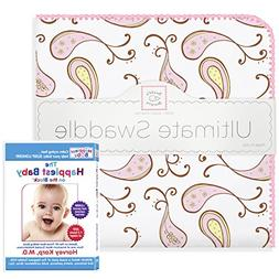SwaddleDesigns Ultimate Swaddle Blanket, Made in USA Cotton