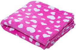 """Totally Pink Ultra Cozy Plush Home Throw Blanket 50"""" x 60"""""""