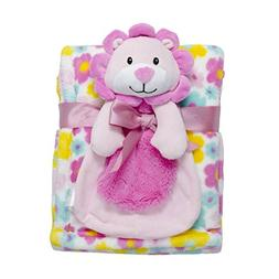 Baby Gear 2 Piece Ultra Plush Nursery Blanket & Toy Buddy Se