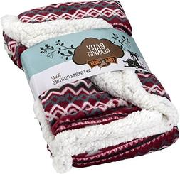 TrailCrest Ultra Soft, Plush Baby Blanket with Warm and Cozy