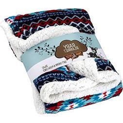 Ultra Soft Sherpa Fleece Cozy Plush Baby Blanket for Kids, R