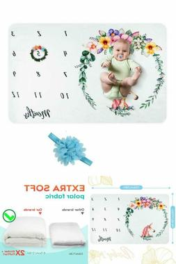 Unicorn Baby Blanket Baby Monthly Milestone Blanket Premuim