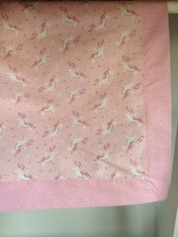 Unicorn Baby Blanket/Receiving Blanket for a girl. Ideal Bab