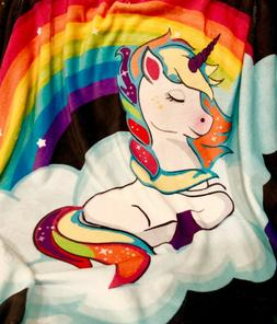 Unicorn Blanket for Girls and Boys - Fleece Plush Soft Throw