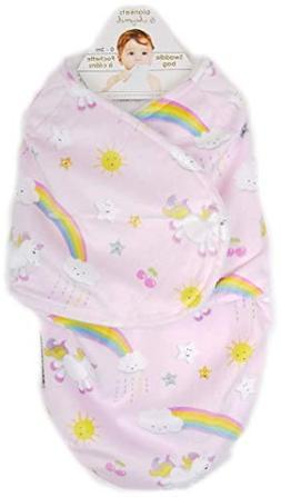Unicorns and Rainbows Swaddle Blanket Sack Sak Bag Wearable
