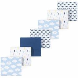 Luvable Friends Boy Flannel Receiving Blanket, 7-Pack, Boy C