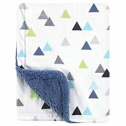 Hudson Baby Unisex Baby Plush Blanket With Sherpa Back, Abst