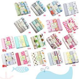 Unisex Cotton Baby Bed Sheet Newborn Crib Blanket Bedding Se