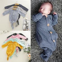 US 0-12M Newborn Infant Baby Girl Swaddle Wrap Swaddling Bla