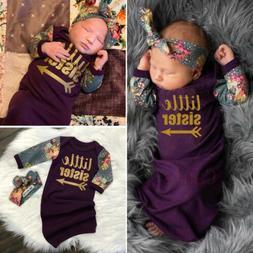 US 2Pcs Baby Girl Little Sister Swaddle Wrap Blanket Sleepin