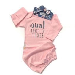 US 2Pcs Newborn Baby Girl Cotton Swaddle Wrap Blanket Sleepi