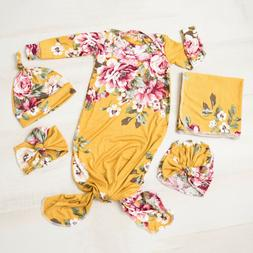 US Newborn Baby Girl Floral Snuggle Swaddling Wrap Blanket S
