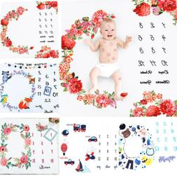 US Baby Monthly Blanket Newborn Boy & Girl - New Mom Baby Sh