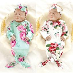 US Baby Newborn Infant Swaddle Wrap Blanket Sleeping Bag Cot