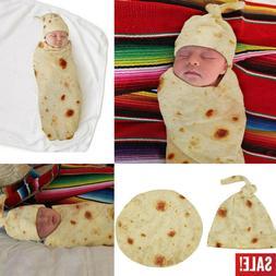 US Burrito Baby Blanket Flour Tortilla Swaddle Soft Blanket