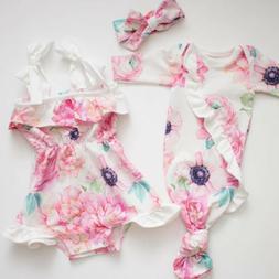 US Newborn Baby Girl Ruffle Floral Wrap Swaddling Blanket Ro