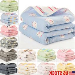 US Newborn Toddler Baby Cotton Blankets Extra Soft Baby Stro