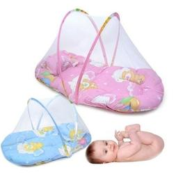 US Portable Foldable Baby Kids Infant Bed Dot Zipper Mosquit