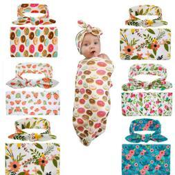 US Stock Newborn Baby Blanket Bedding Blanket Wrap Swaddle B