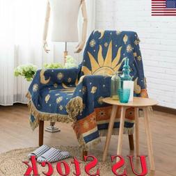 US Tassels Bedspread Tapestry Warm Slipcover Throw Baby Blan