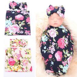 US Toddler Baby Girl Swaddle Blanket Soft Sleeping Swaddle M