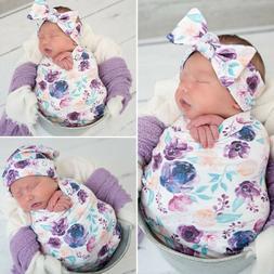 USA Soft Muslin Baby Wrap Swaddling Blanket Newborn Floral S