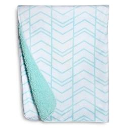 New Valboa Baby Blanket Blue Herringbone