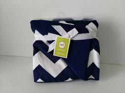 NEW Circo Valboa White & Navy Blue Chevron Baby Boys Blanket
