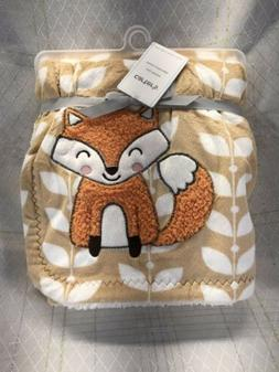 Carter's Velour Sherpa Blanket with Fox Applique