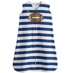 Halo Velour Sleepsack Wearable Blanket Football Stripe - Siz