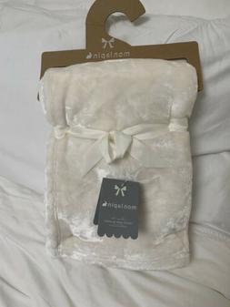 Mon Lapin Velvet Baby Blanket. Cream. Reversible. Super Soft